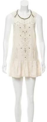 Isabel Marant Embellished Silk-Blend Dress