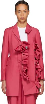 Comme des Garcons Pink Ruffle Coat