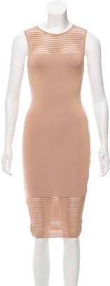Ronny Kobo Perforated Knee-Length Dress