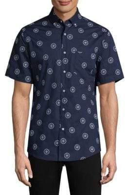 Vilebrequin Short-Sleeve Cotton Button-Down Shirt