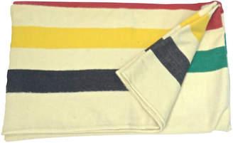 One Kings Lane Vintage Hudson's Bay Point Striped Blanket - Vermilion Designs