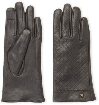 Marcus Collection Adler Brass Embellished & Woven Leather Gloves