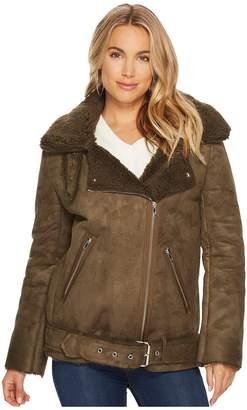 J.o.a. Faux Shearling Biker Jacket Women's Coat