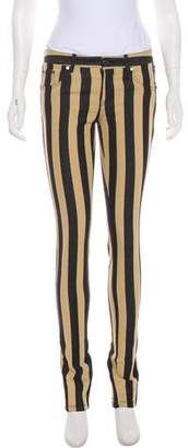 Thomas Wylde Mid-Rise Striped Jeans
