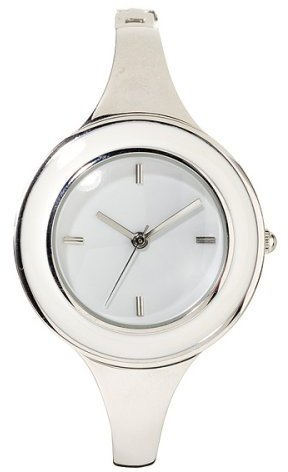 Xhilaration Half Bangle Enamel Finish Watch - White