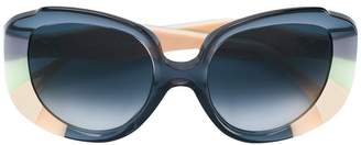 Cat Eye Chloé Eyewear colour block sunglasses