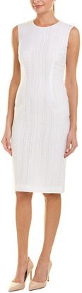 Escada Sheath Wool-Blend Dress