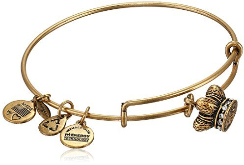 Alex and Ani Womens King's Crown Charm Bangle Rafaelian Gold Finish One Size