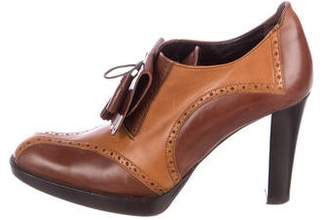 Max Mara Brogue Kiltie Booties