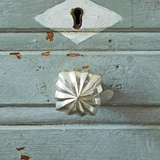Graham and Green Antiqued Silver Square Star Door Knob