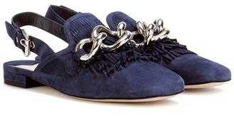 Slingback Loafer With Fringe