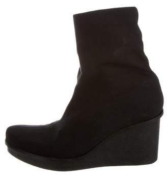 Robert Clergerie Neoprene Wedge Ankle Boots