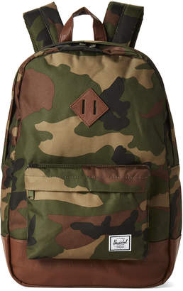 Herschel White Camo Heritage Backpack