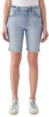 DL1961 Premium Denim Jerry High-Rise Vintage Slim Bermuda Shorts