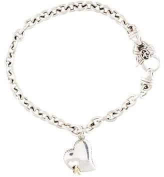 Scott Kay Two-Tone Eternity Heart Necklace
