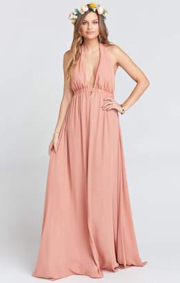 Show Me Your Mumu Luna Halter Dress ~ Rustic Mauve Crisp