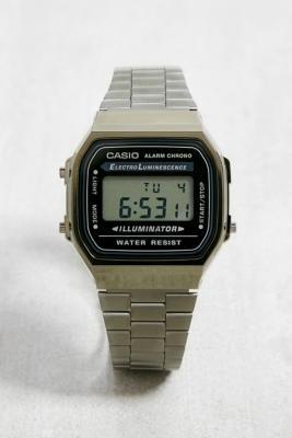 Casio A168WEGG Vintage Gunmetal Watch - grey at Urban Outfitters