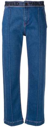 Karl Lagerfeld tailored pintuck jeans