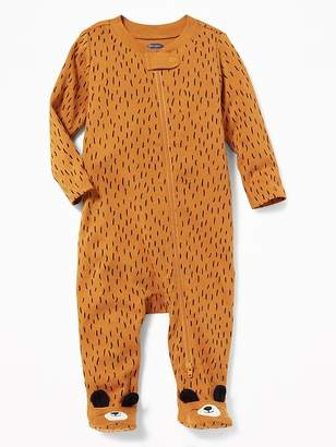 Old Navy Bear-Critter Footed One-Piece for Baby