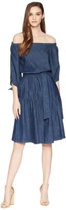 Lauren Ralph Lauren Denim Fit-and-Flare Dress Women's Dress