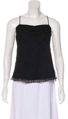 Christian Lacroix Silk Embroidered Top