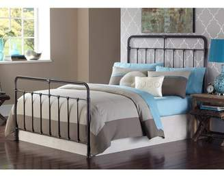 Leggett & Platt Fairfield Complete Bed with Metal Panels and Castings, Dark Roast Finish, Full