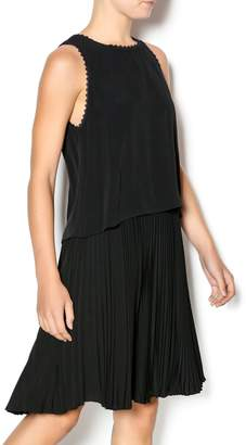 Rebecca Taylor Crepe Pleat Dress