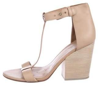 Vince Leather T-Strap Sandals