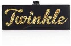 Edie Parker Flavia Twinkle Acrylic Clutch