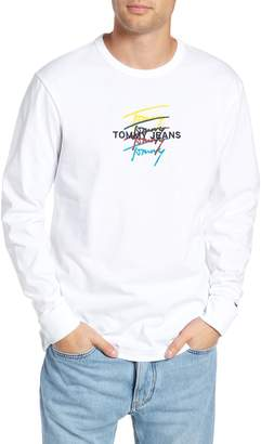 Tommy Jeans Repeat Signature Embroidered Long Sleeve T-Shirt