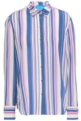 MiH Jeans Striped Silk Crepe De Chine Shirt