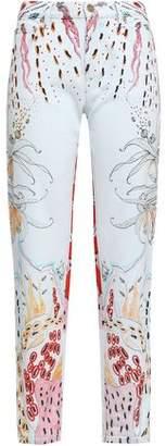 Roberto Cavalli Printed Mid-rise Straight-leg Jeans