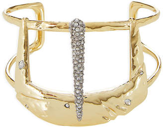 Alexis Bittar 10kt Gold Cuff Bracelet with Crystals