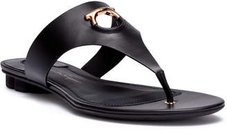 Salvatore Ferragamo Enfola black leather sandals