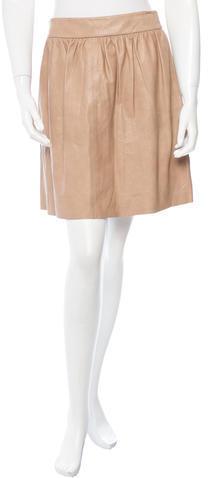Alice + OliviaAlice + Olivia Pleated Leather Mini Skirt w/ Tags