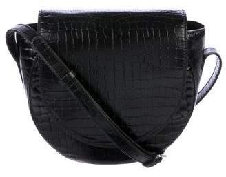 Robert Clergerie Clergerie Paris Embossed Leather Crossbody Bag