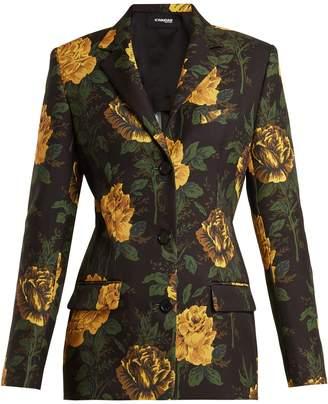 KWAIDAN EDITIONS Ruscha floral-print single-breasted jacket