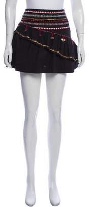 LoveShackFancy Beaded Accent Mini Skirt