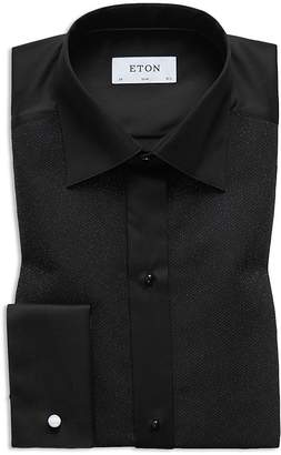 Eton Silver Bib Contemporary Regular Fit Tuxedo Shirt