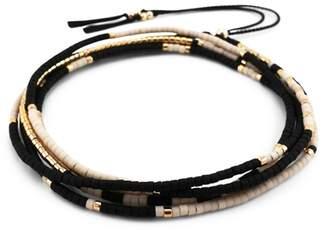 Abacus Row Sonoran Wrap Bracelet/Necklace in Polar