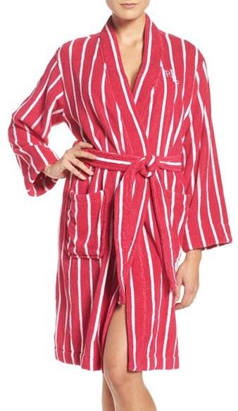 Lauren Ralph LaurenWomen's Lauren Ralph Lauren Stripe Terry Robe