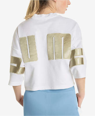 Puma Satin Relaxed Cropped Top