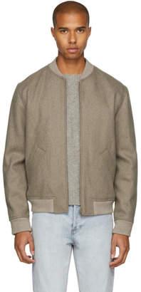 A.P.C. Beige Gaston Bomber Jacket