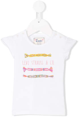 Levi's Kids embroidered design T-shirt