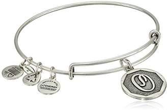 Alex and Ani Rafaelian Silver-Tone Initial O Expandable Wire Bangle Bracelet