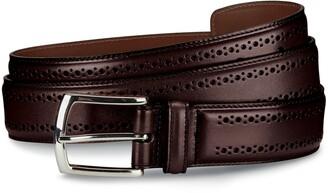 Allen Edmonds Manistee Brogued Leather Belt