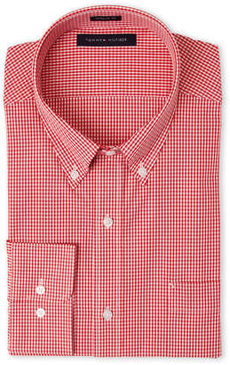 Tommy Hilfiger Red Check Regular Fit Dress Shirt