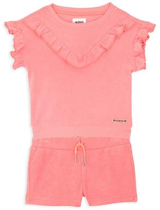 Hudson Girls' Flutter-Sleeve Sweatshirt & Terry Shorts Set - Baby