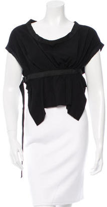Yohji Yamamoto Scoop Neck Crop Top w/ Tags $125 thestylecure.com
