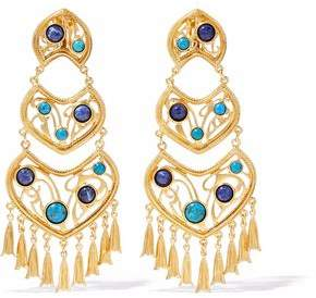 Ben-Amun Gold-Tone Cabochon Clip Earrings
